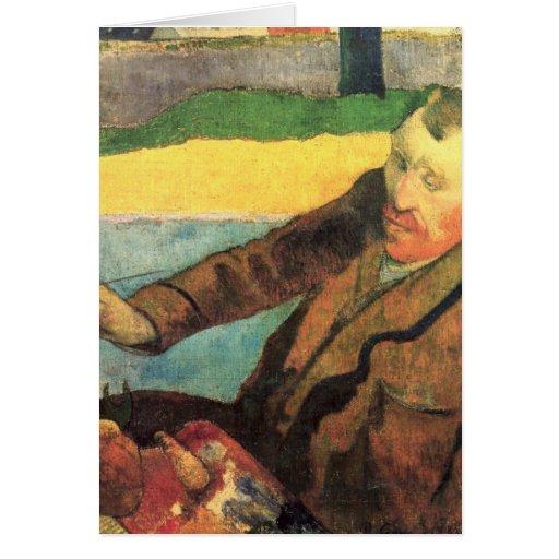 Van Gogh Painting Sunflowers - Paul Gauguin Cards