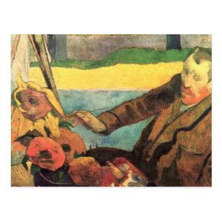 Van Gogh Painting Sunflowers - Paul Gauguin Postcard