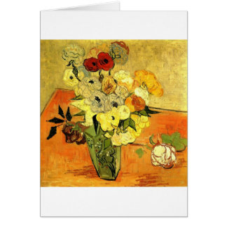Van Gogh Painting Whimsical Blossoms Flowers Vines Card