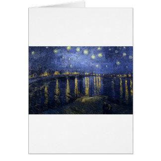 Van Gogh Paintings: Starry Night Van Gogh Rhone Greeting Card