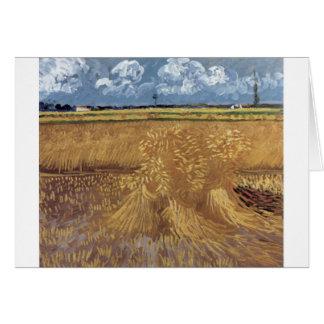 Van Gogh Paintings: Van Gogh Wheat Field Greeting Card