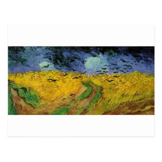Van Gogh Paintings: Van Gogh Wheat Field Postcard