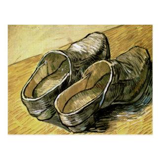 Van Gogh Pair of Leather Clogs Postcards