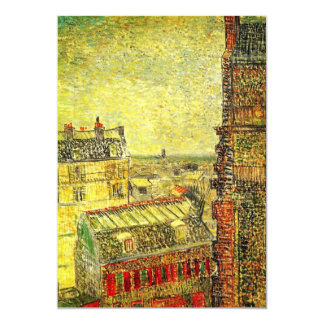 Van Gogh Paris View from Vincent's Room, Rue Lepic Card