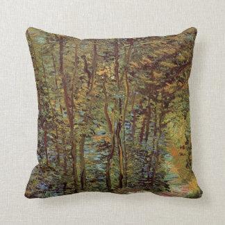 Van Gogh Path in the Woods, Vintage Fine Art Throw Pillow