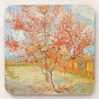 Van Gogh Pink Peach Tree in Blossom Coasters
