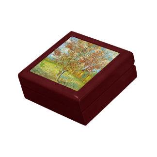 Van Gogh Pink Peach Tree in Blossom, Fine Art Trinket Box