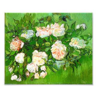 Van Gogh Pink Roses Print Photo