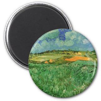 Van Gogh Plain Near Auvers, Vintage Fine Art Magnet