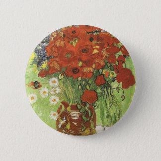 Van Gogh Poppies 2 Inch Round Button