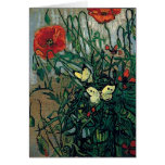 Van Gogh Poppies and Butterflies (F748) Fine Art Stationery Note Card