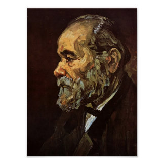 Van Gogh - Portrait of an Old Man with Beard Poster