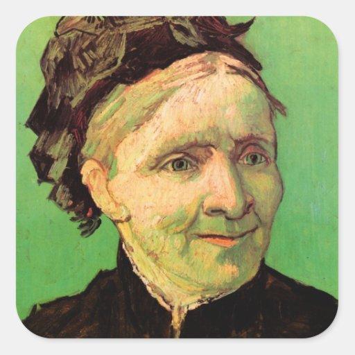 Van Gogh; Portrait of Artist's Mother, Vintage Art Sticker