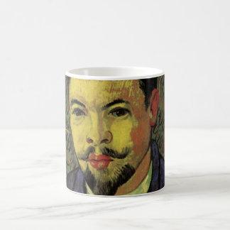 Van Gogh Portrait of Doctor Felix Rey, Vintage Art Basic White Mug