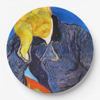 Van Gogh | Portrait of Dr. Gachet Paper Plate