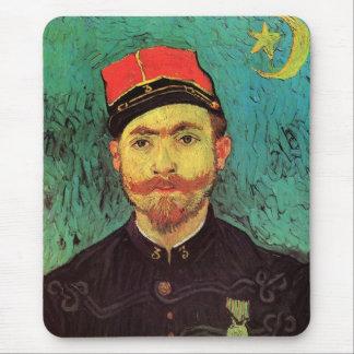 Van Gogh; Portrait of Milliet, Lieutenant Soldier Mouse Pad