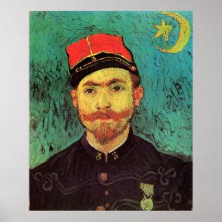 Van Gogh; Portrait of Milliet, Lieutenant Soldier Poster