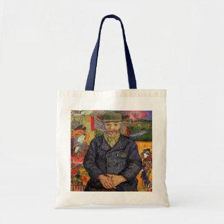 Van Gogh, Portrait of Père Tanguy, Vintage Art Budget Tote Bag