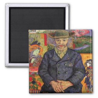 Van Gogh, Portrait of Père Tanguy, Vintage Art Magnet