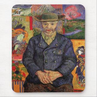 Van Gogh, Portrait of Père Tanguy, Vintage Art Mouse Pad
