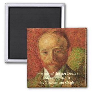 Van Gogh Portrait of the Art Dealer Alexander Reid Square Magnet