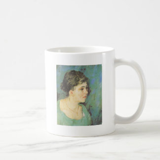 van Gogh | Portrait of Woman in Blue | 1885 Classic White Coffee Mug
