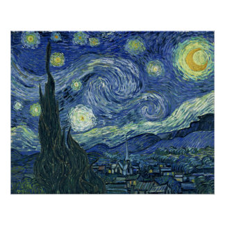 Van Gogh Print Starry Night AUTHENTIC ORIGINAL