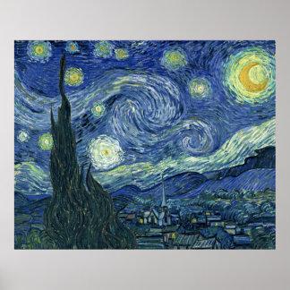 Van Gogh Print Starry Night AUTHENTIC ORIGINAL