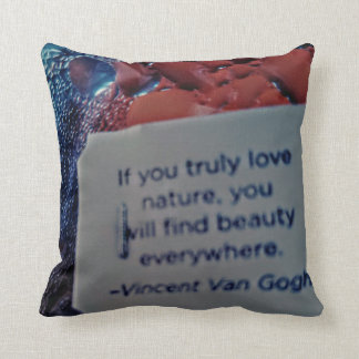 Van gogh quote two sided pillow
