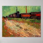 Van Gogh Railway Carriages (F466) Fine Art Poster