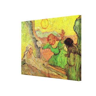 Van Gogh; Raising of Lazarus, Vintage Religion Canvas Print