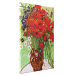 Van Gogh Red Poppies and Daisies, Fine Art Flowers Canvas Prints