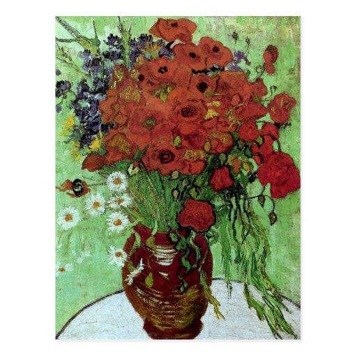 Van Gogh Red Poppies & Daisies (F280) Fine Art Postcard