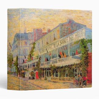 Van Gogh Restaurant la Sirene, Asnieres, Fine Art 3 Ring Binder