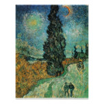 VAN GOGH - ROAD WITH CYPRESS AND STAR POSTER