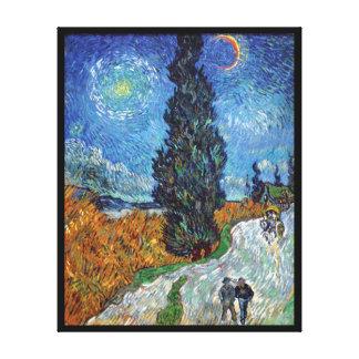 Van Gogh - Road With Cypresses Fine Art Canvas Print