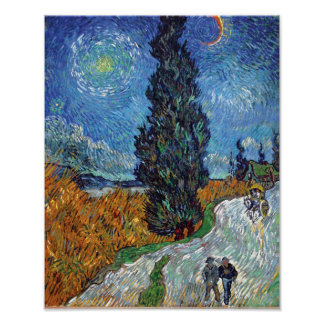 Van Gogh - Road With Cypresses Fine Art Poster