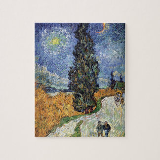 Van Gogh - Road With Cypresses Jigsaw Puzzle