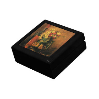 Van Gogh Romantic Fine Art with Roses and Wine Gift Box