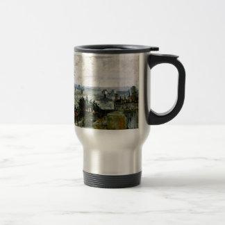 Van Gogh - Roofs of Paris 15 Oz Stainless Steel Travel Mug