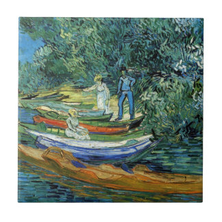 Van Gogh Rowing Boats on the Banks of the Oise Tile