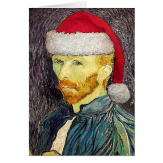 Van Gogh Santa Note Card