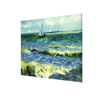 Van Gogh - Seascape at Saintes-Maries Canvas Print