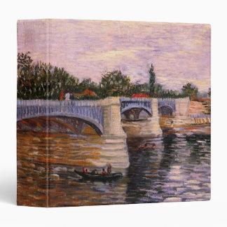 Van Gogh Seine Pont del Grande Jette, Fine Art 3 Ring Binder