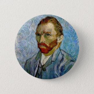 Van Gogh Self Portrait 2 Inch Round Button