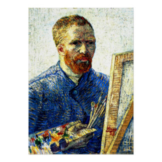 Van Gogh - Self Portrait as a Painter Poster