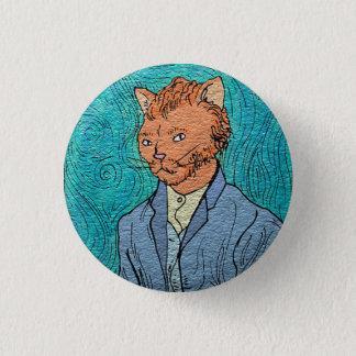 Van Gogh Self-Portrait Catsterpiece 1 Inch Round Button