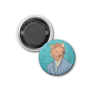 Van Gogh Self-Portrait Catsterpiece Magnet