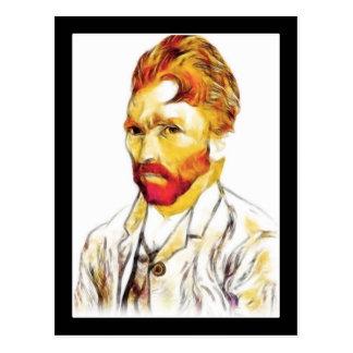 Van Gogh Self Portrait - Hair Do Postcard