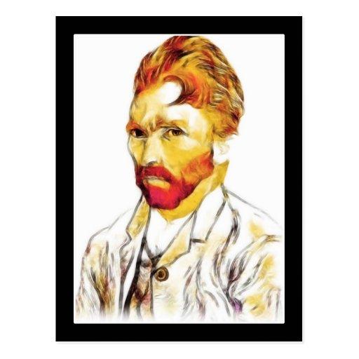 Van Gogh Self Portrait - Hair Do Postcards